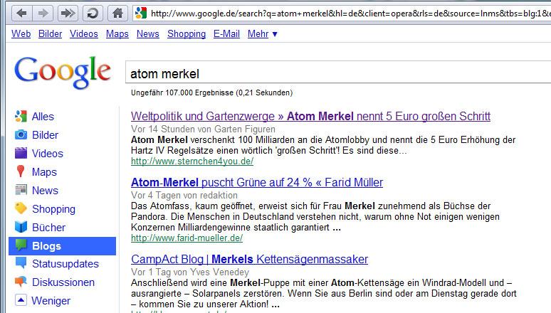 Zensur bei Google Deutschland