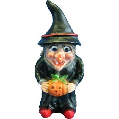 Hexe Halloween, beleuchtet